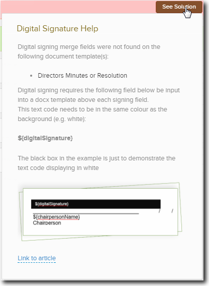 Digital Signing Merge Fields – CAS 360 Knowledge Centre